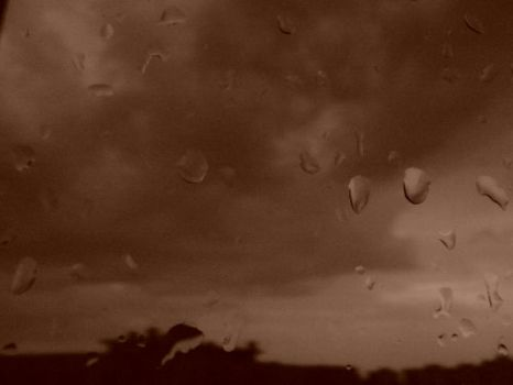 Sepia Raindrops by PurplePoisonDust