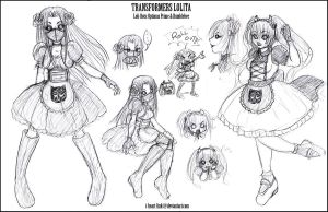 Transformer Lolita Sketches 1 by I-heart-Link