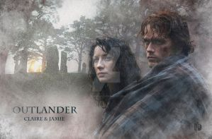 OUTLANDER, Claire and Jamie by Lid-graphic