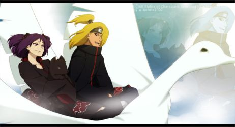 Deidara and Moon by annria2002