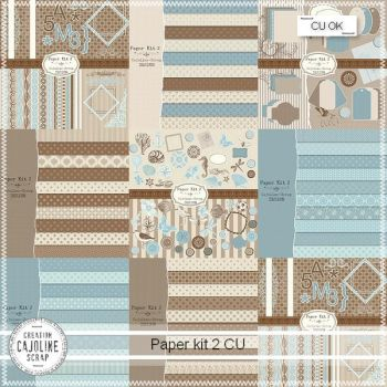 PAPER KIT 2 - COMMERCIAL USE by cajoline-scrap