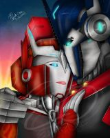 I Love You- TFP Optimus and Causeway by ElitaOneArts