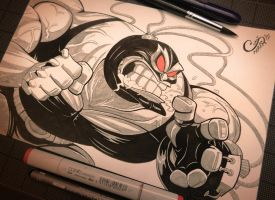 Bane - Inktober Day 12 by Curly-Artist