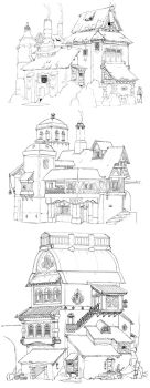 3 houses 020 by DavidSequeira