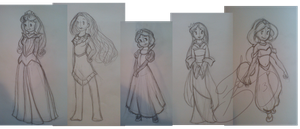 Disney Princesses by Keali