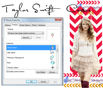 Taylor Swift Cursor by iLoveCelebrities31