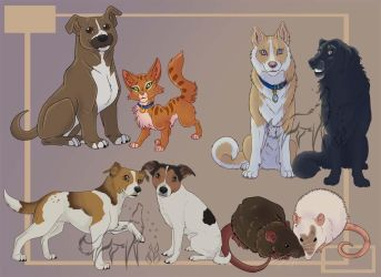 I cartoon your pet- Commissions by EmberWolfsArt