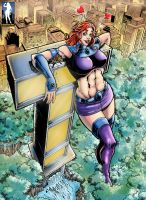 Towering Titan by giantess-fan-comics