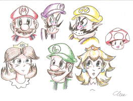 Mario Characters - Part 1 by EdwinArt
