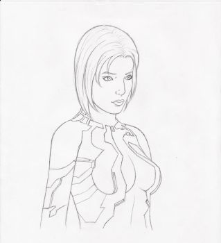 Cortana Sketch by AetheriumDreams