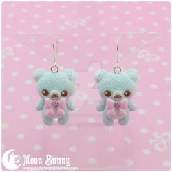 Pastel ice cream bears Earrings by CuteMoonbunny
