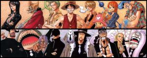 One Piece, Strawhat Pirates VS CP9 by deamen1989