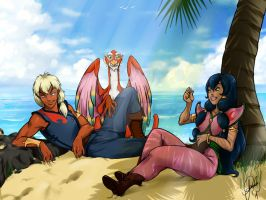 Tula and Ren - Pirates of Dark Water by TheFlyingOctopus