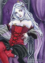 Commission - Vampire Elf ACEO by MeredithDillman