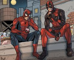 Deadpool, Spidey and capcakes by bhebbo