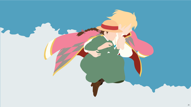 Howl/Sophie {Howl's Moving Castle} by greenmapple17