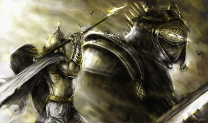 The Battle of Lugh and Balor by Ionus