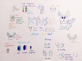 Ryusei the Shiny Eevee ref. by ShootingStarEevee