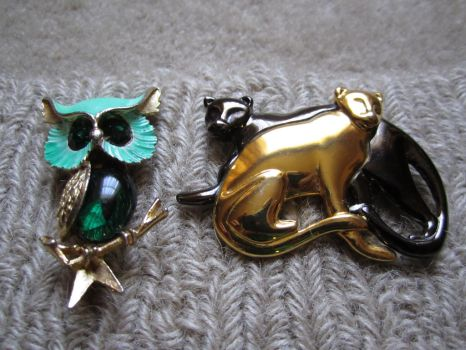 Knee Deep brooches by Blue-Moon-Maiden