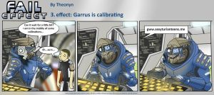 Fail Effect 3 - Garrus is calibrating by Theonyn