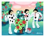 card soldiers, painting roses red by snuapril01