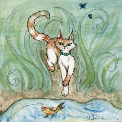 Cat and Koi by ShadyMeadows