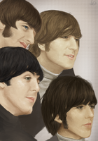 The Beatles by samurdoc