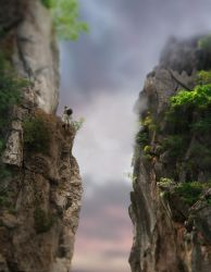 Cliff Hike by ChiaraLily9