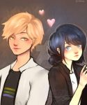 Adrien and Marinette by Jerlyy