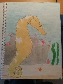 Art Class Assignment: Seahorse by Erick-the-Druid