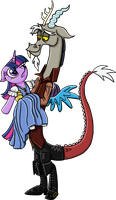 Discolight/Rumbelle, commission by Jadeile