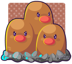 051 Dugtrio by Miss-Glitter