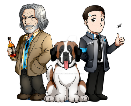 Hank, Sumo, and Connor: Detroit Become Human