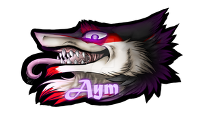 :Commission: Aym Digital Badge by SafireCreations