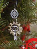 'Unlocked Gears' Ornament by GildedGears