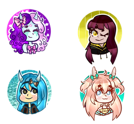 [Art Payment]: Bunnii Button Batch by SimplyDefault
