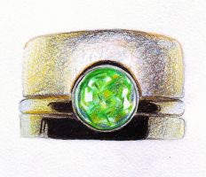 Gold ring with stone by LARvonCL