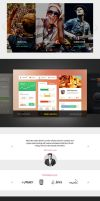Skinny Frames UI Kit -Sliders-Fillers-Footers by PixelKitCom