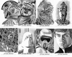 Topps Sketch Cards Group 5 by khinson