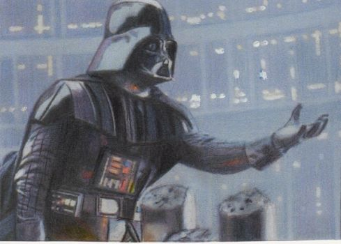 Star Wars Darth Vader Sketch Card by TRENTBRUCE