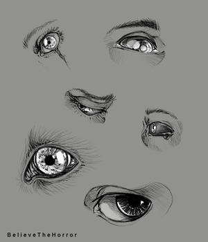 Eye Doodles by BelieveTheHorror
