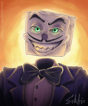 King Dice Painting by Erkfir