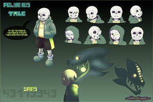 PolybiusTale Sans ref sheet. by GhostLiger