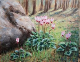 Forest cyclamen by NataliSpalette