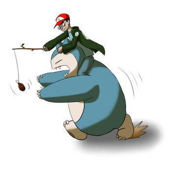 Snorlax Racer by ProfessorBroomhead