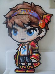 MapleStory: Perler Bead Evan by heatbish