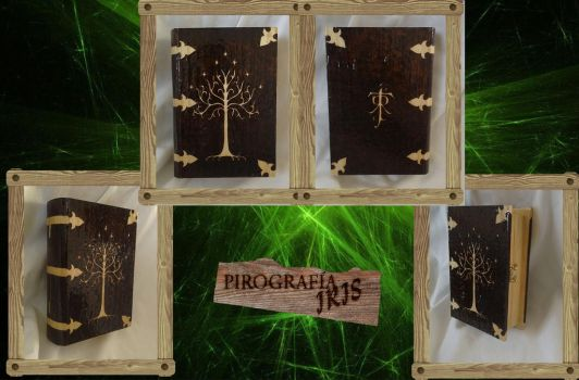 BURNED BOOK BOX LOTR by irismz