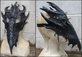 Leather dragon mask by zarathus