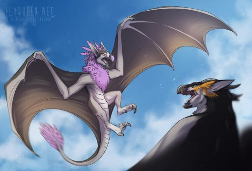Skyfight by FlyQueen