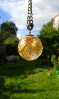 resin sphere  pendant by kaeru1001